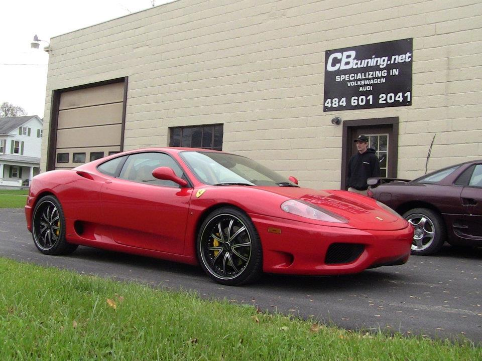 Ferrari 360 stopping by the shop